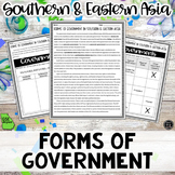Forms of Government Southern & Eastern Asia Activity (SS7C