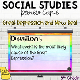 Great Depression & New Deal Review Game SS5H3, SS5H3a, SS5H3b)