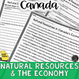Natural Resources in Canada Reading Activity (SS6E6, SS6E6d)