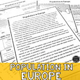 Population Distribution: Europe Activity Packet (SS6G9a)