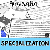 Specialization in Australia Reading & Writing Activity (SS