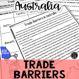 Trade Barriers in Australia Reading Activity (SS6E11, SS6E11b)