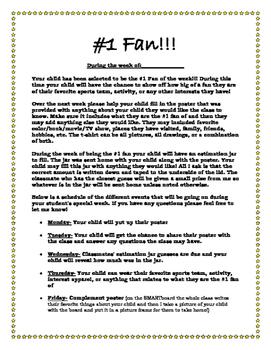 #1 Fan Home Letter