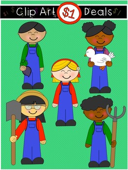 $1 Farm Kids Clip Art DOLLAR DEAL 15
