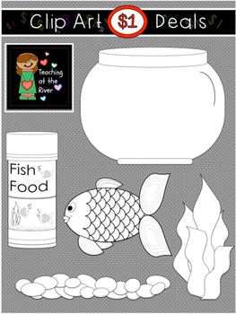 $1 Fish Bowl Clip Art Dollar Deal 4