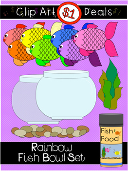 $1 Fish Bowl Clip Art Dollar Deal 4