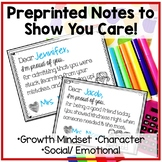 Growth Mindset Notes (and more!) from the Teacher