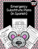 Emergency sub plans in Spanish for kindergarten (mouse theme)