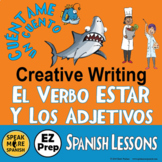 ESTAR with Spanish Emotions Adjectives. Spanish Writing an