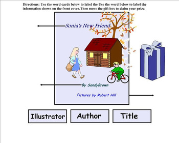 | 1. Front Cover Information | Parts of a Book | Kindergarten Literacy Skills