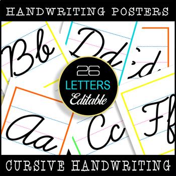 26 Cursive Handwriting Posters / Classroom Bulletin Display /Display Printables