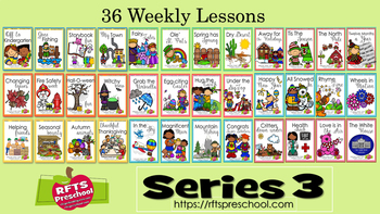 (Only $3 Each Lesson) Bundle - 36 Weekly Thematic Units (Series 3)