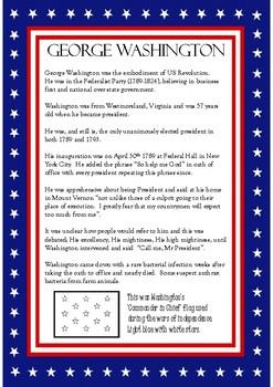 #1 President George Washington