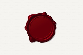 ♡ Red Wax stamp. Wax seal.