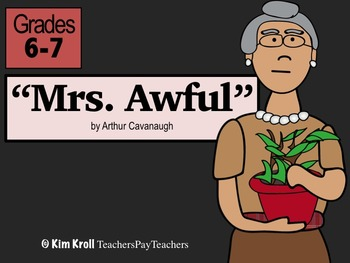 """Miss Awful"" by Arthur Cavanaugh Lesson, PPT, and MORE"