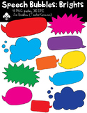 Speech Bubbles: Brights Clipart ~ Commercial Use OK ~ Frames