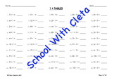 (÷1) Simple Division By One Mental Maths / Drill Worksheets / Booklet