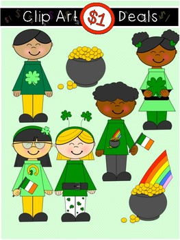 $1 St. Patrick's Kids Clip Art Dollar Deal 13