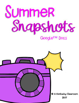 $1 THRU 7/31!! Summer Snapshots Google Drive