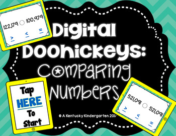 Digital Doohickeys:  4th Grade Comparing Numbers SUMMER