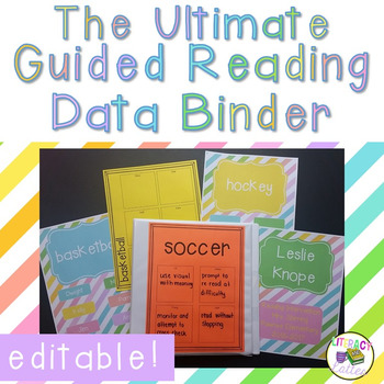 Guided Reading Organization and Data Binder - EDITABLE