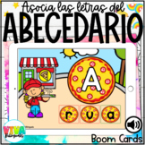PIZZA ALPHABET MATCHING LETTERS BOOM CARDS (SPANISH) Dista