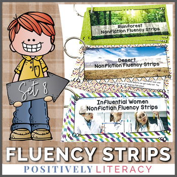 Fluency Strips ~ Fluency Practice for 2nd & 3rd Grades Set 8