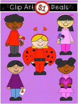 $1 Valentines Day Kids Clip Art Dollar Deal 12