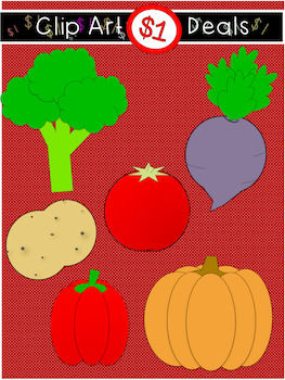 $1 Vegetable Clip Art Dollar Deal 9