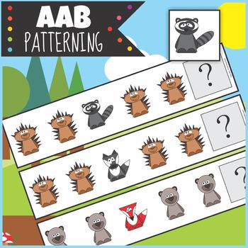 $1 Woodland Animals AAB Patterning Activity
