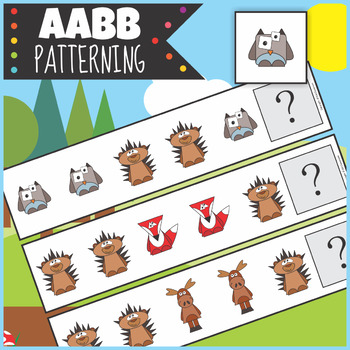 Woodland Animals AABB Patterning Activity
