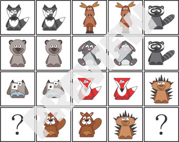 Woodland Animals ABC Patterning Activity