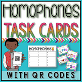 Homophones Task Cards with QR Codes