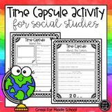 Back to School Time Capsule Activity | Social Studies