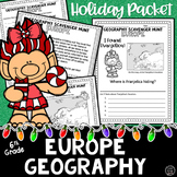 Christmas Social Studies Scavenger Hunt | Europe's Geography