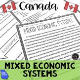 Economic Systems in Canada Reading Activity (SS6E4, SS6E4b