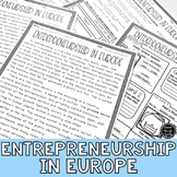 Entrepreneurs in Europe Reading Activity (SS6E9, SS6E9e)