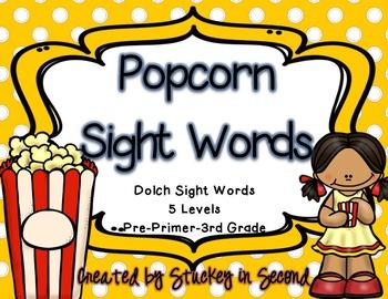 Popcorn Sight Words (Dolch: Pre-Primer-Grade 3)