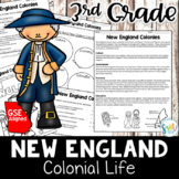 New England Colonies Reading Activity Packet (SS3H3)