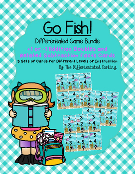 +1 or -1 Doubles Facts and Related Subtraction Facts Go Fish!