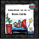 BOOM Cards-Final Blends: -nd, -nk, -nt