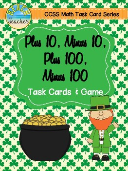 +10, -10, +100, -100 Task Cards & Game (March)