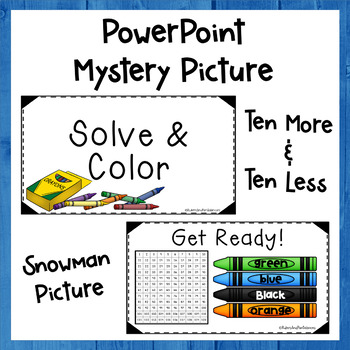 +10 -10 - Solve and Color - PowerPoint Hidden Picture