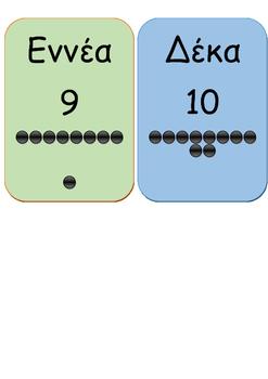 Καρτέλες αριθμών μέχρι το 10
