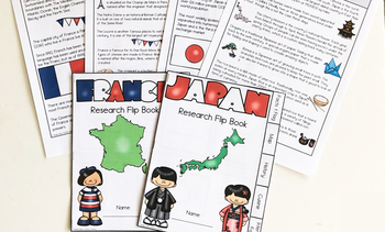 {10} Countries Research Flip Book