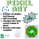 ÷10 Division Pixel Art! Digital Practice for Math Facts with Secret Reveal!