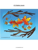 #10 Leaves, Numbers, Animals, First Nations, Indigenous, A