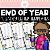 20 Pages - Summer Themed Friendly Letter Templates for Pen Pal Writing