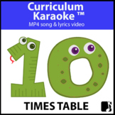 '10 TIMES TABLE' ~ Read, Sing & Learn Song Video l Distanc