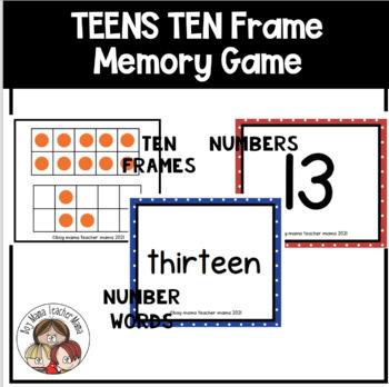 +10 Ten Frame Memory Game